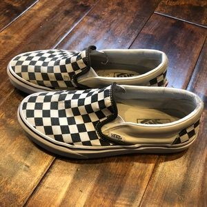 Vans Checkered Slip Ons Size 7 women's